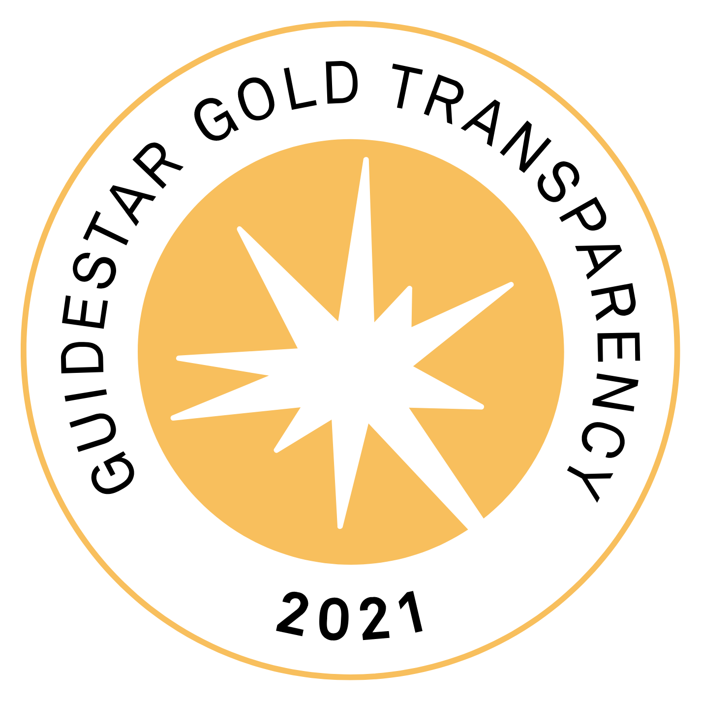 Guidestar Gold Transparancy 2021 seal in gold color