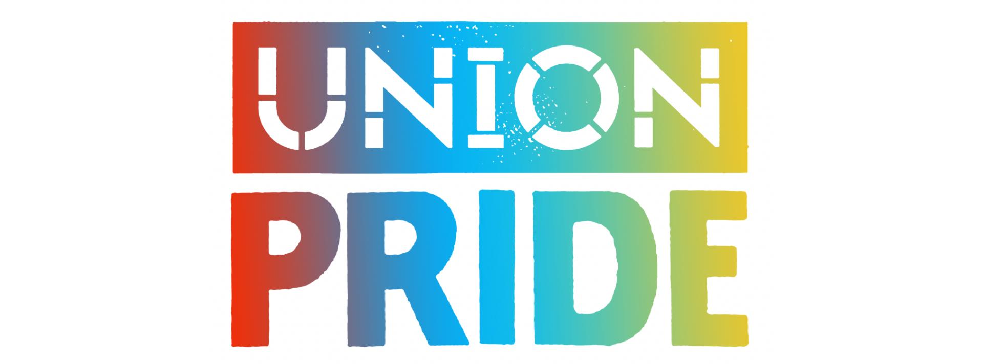 Union Pride Logo in rainbow colors banner